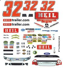 #32 Red Rocks Cafe Boris Said 2011 1/64th Scale Slot Car Waterslide Decals