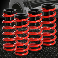 "FOR 85-98 VW GOLF/JETTA RED 1-3"" ADJUSTABLE COILOVER SUSPENSION LOWERING SPRING"