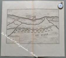 "LOMBARDIA – CASSANO. ""PLAN DE LA BATAILLE DE CASSANO"". Grande carta, circa 1740."