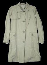 GIORGIO ARMANI Beige Poly Techno Zip & Button Front Trench Coat 42