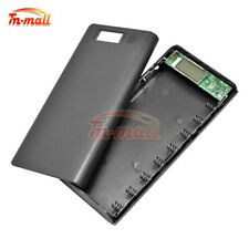 8x 18650 Battery Holder Power Bank DIY Kit Black Case USB Charger For Cell Phone