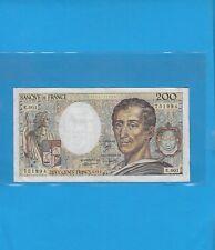 Billet  200 Francs MONTESQUIEU  Année 1981   Alphabet   E .001