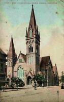 First Congregational Church Oakland California CA Street View Vintage Postcard