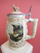 Avon Beer Stein Tribute To The North American Wolf 1997 Collectible Display