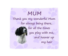 English Springer Spaniel 'Thank You Mum' Microfibre Glasses Cleaning Cloth Dog