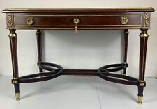 Antique French desk 19th century very fine mahogany with gilt bronze decoration