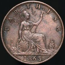 1863 | Victoria Farthing 'Key Date' | Bronze | Coins | KM Coins