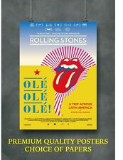 The Rolling Stones Music Tour Large Poster Art Print A0 A1 A2 A3 A4 Maxi