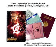 avengers infinity war 102 protège carte grise permis passeport passport cover