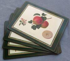 FOUR Pimpernel Cork Floral Placemats Rosina-Queens Hooker's Fruits Still Life