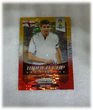 2014 Panini Prizm World Cup Yellow Red Pulsar Stars Steven Gerrard - England #12