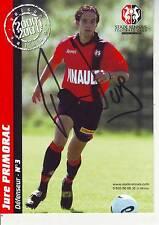 FOOTBALL carte joueur JURE PRIMORAC équipe FC RENNES signée