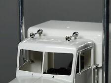 Pair Roof Simulate Air Horns for Tamiya RC 1/14 King Knight Hauler Globe liner