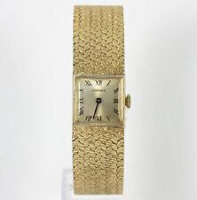 Vintage Longines watch 14K yellow gold ladies weave bracelet 20MM