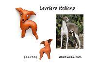 Llavero Piel Auténtica Hombre Mujer Razas Perros Galgo Italiano