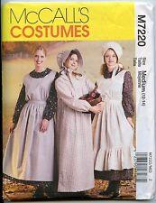 Misses Pioneer Dress, Apron & Sunbonnet Pattern - Size Medium (12-14) - NEW