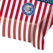 USA AMERICAN FLAG PLASTIC TABLE COVER 130X180CM