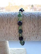 """Ladies Bracelet Ruby Zoisite & Peridot Gemstones 14K Good Filled 7"""" Handmade New"""