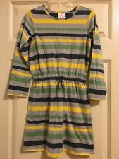 Hanna Andersson Striped Dress Girls Size 140  10