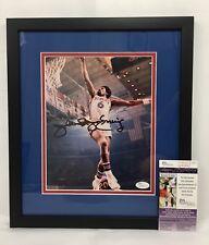 Julius Erving Dr.J Signed Framed 8x10 Photo JSA Coa