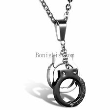 "Stainless Steel "" Forever Love "" Handcuffs Pendant Valentine Lovers Necklace"