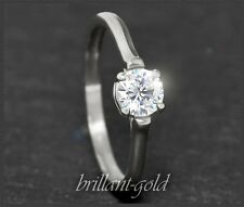 Diamant Solitär Damen Brillant Ring, 0,54ct in River E & Si; 585 Weißgold, Neu