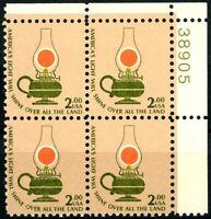 Kerosene Lamp $2 Stamp Plate Block of 4 UR PL 38905 MNH Scott's 1611        (L1)
