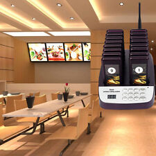 Smart 16 Restaurant Coaster Pagers Guest Call Wireless Paging Queuing System