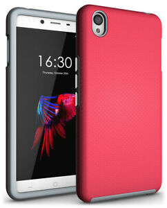 NEW ANTI-SLIP PINK TEXTURED GRIP SOFT SKIN HARD CASE COVER FOR ONEPLUS X PHONE