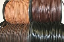 3 mm - Round * High Quality * Leather Lacing * 10 Yards - 25 Yards (No Spool)