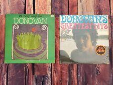 Donovan HURDY GURDY MAN & GREATEST HITS LP Vinyl Record Album LOT 1968 Records