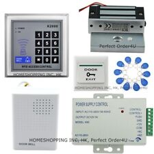 125KHZ RFID Card+Password Door Access Control System +60kg/120Lbs Magnetic Lock