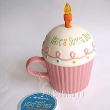 Hallmark Musical Light Up Happy Birthday Sweet Cake Cupcake Mug Cup