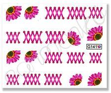 Nagelsticker Nail Sticker Tattoo Fingernagel Aufkleber Blume wassersticker