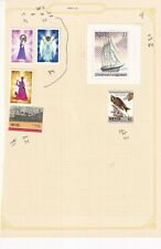 NEVIS PRE 1990's ALBUM PAGE OF 5 STAMPS & A MINI SHEET