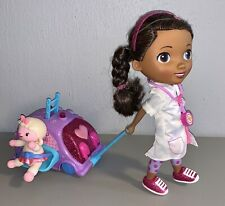 Doc McStuffins Walk-n-Talk Doll with Mobile Vet Center Clinic *TESTED* Doctor