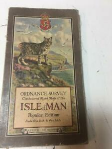 1924 Isle of Man Douglas Ramsey Laxey Bay Antique OS Map