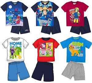 Boys Official Star Wars Various Short Sleeve Summer Pyjamas PJs 3 - 12 Years