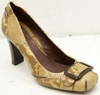 Cole Haan Brown Animal Print Leather Women's Heel Shoes Sz 8 M