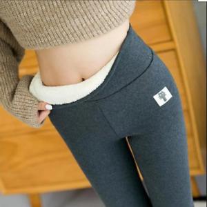 SUPER THICK CASHMERE LEGGINGS Womens'  Winter Tight High Waist Pants Warm Pants