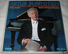 Artur Rubinstein Beethoven i 5 pianoforte concerti 4 LP BOX RCA Red Seal + LIBRETTO