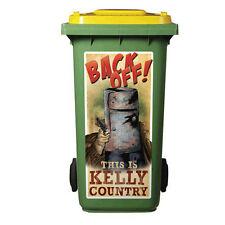 NED KELLY  WHEELIE BIN/TRASH CAN  STICKER 120 Litre Bin