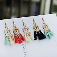 Stylish Bohemian Earrings Handmade Tassel Drop Beads Dangle Boho Earring Jewelry