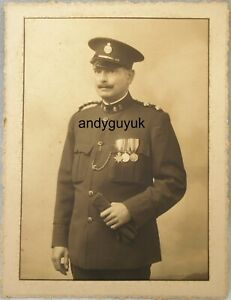 Vintage Photo Police Special Constable WW1 Medal Military Badge Officer