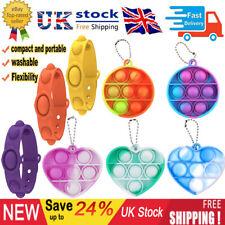 Mini Push Pop it Bubble Simple Dimple Fidget Toys Keychain Stress Relief Toys UK