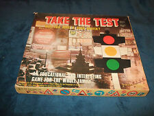 TAKE THE TEST-FAMILY EDUCATIONAL BOARD GAME BY PETER PAN 1967