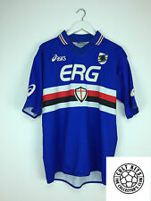 Retro SAMPDORIA 03/04 Home Football Shirt (L) Soccer Jersey Asics