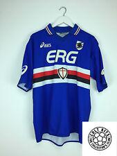 RETRO SAMPDORIA 03/04 Home Football Shirt (L) SOCCER JERSEY ASICS