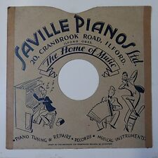 "10"" 78rpm gramophone record sleeve SAVILLE PIANOS ilford"
