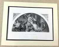 Edwin Landseer Antique Engraving Print Rout of Comus and his Band Painting 1880